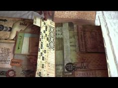 Tim Holtz File Folder Album - YouTube