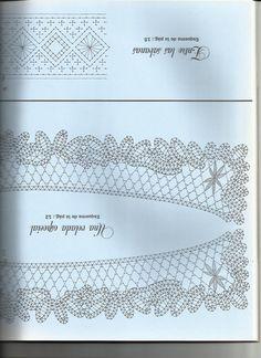 renda de bilros / bobbin lace esquemas / patterns Bobbin Lace Patterns, Lace Outfit, Needlework, Tapestry, Embroidery, Type, Bobbin Lace, Fabrics, Tejidos