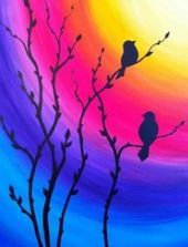 40 Acrylic Painting Tutorials & Ideas For Beginners - Brighter Craft - a.love - 40 Acrylic Painting Ideas For Beginners · Brighter Craft - Simple Acrylic Paintings, Acrylic Painting Tutorials, Easy Paintings, Painting Tips, Painting Lessons, Sunset Paintings, Acrylic Painting For Beginners, Portrait Paintings, Indian Paintings