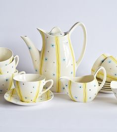 Midwinter Pottery, Elstree Coffee Set designed by Jessie Tait 1956