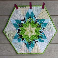 Hexagon Star Mini Quilt by sara / flickr