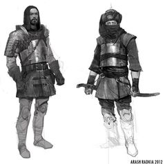 Typical armor of the Golden Braves, the guards of Molthaven's streets