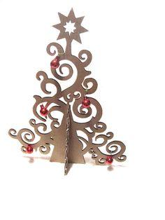 Artistico albero di Natale di cartone cartone di bottegadicartone