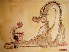 Apple Eating Dragon by Kei Acedera