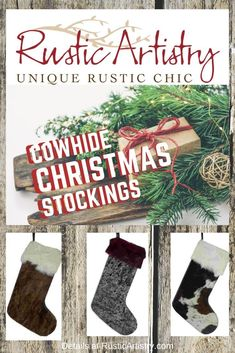 Rustic Christmas with these Cowhide Christmas Stockings - love these! Rustic Christmas with these Cowhide Christmas Stockings - love these! Rustic Christmas with these Cowhide Christmas Stockings - love these! Rustic Chic, Rustic Style, Rustic Design, Rustic Decor, Yin Yang, Rustic Home Interiors, Western Decor, Rustic Christmas, Bold Colors