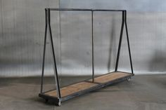 Interior Decline: more industrial clothing racks Wood Clothing Rack, Retail Clothing Racks, Clothes Racks, Clothes Storage, Iron Furniture, Furniture Design, Industrial Furniture, Fashion Retail Interior, Sweet Home