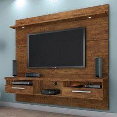 Estante Home Theater Suspenso para TV até 60 Polegadas Evidence Valdemóveis Ipê