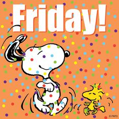 Friday With Dancing Woodstock and Snoopy