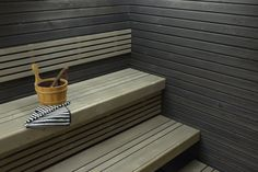 saunan lauteet | Saunapaketti Wicco Sauna Medius 4.3 suoralla lauteella 4m2 1952 mm