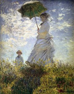 Cave to Canvas, Madam Monet with a Parasol - Monet, 1875