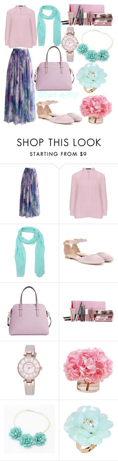 """Hijab outfits"" by mennah-ibrahim ❤ liked on Polyvore featuring Chicwish, Manon Baptiste, Red Carpet, Chloé, Kate Spade, Clinique, Anne Klein, The French Bee, Best Jewellery and Dettagli"