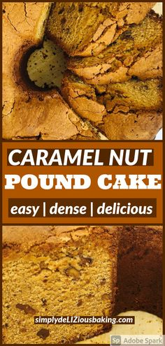 Caramel Nut Pound Cake is one of the BEST cakes for Thanksgiving and Christmas. Simple and easy recipe that is exploding with amazing flavor. No decorating required for this fall cake recipe. Try it this holiday season. Click here for recipe. #poundcakelove #poundcake #thanksgivingcake #Christmascake #fallcake