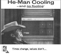 Old Air Conditioner Ad. See more at KalosFlorida.com #retro #airconditioning #ac #KalosServices #SimplyGreatService