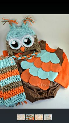 Toddler boys owl costume