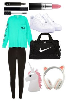 """""""Untitled #8"""" by emilyharwoodx on Polyvore featuring Victoria's Secret, NIKE, MAC Cosmetics, Miss Selfridge and Gucci"""