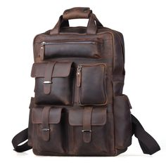 Cheap leather bag backpack, Buy Quality leather fashion backpack directly from China leather hiking backpack Suppliers:    %0A %0A Free shipping Men's Top Leather Luggage Suitcase Travel Duffle Gym Bags Tote Large Capacity 3151US $ 155.00