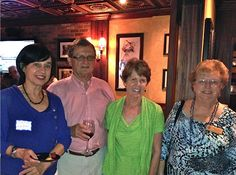 Recent Sarasota resident Marie des Neiges Grossas from our Sister City of Perpignan, France before retiring from the World Bank in Washington, with Harry & Happy Dunn and current city director for the twinned relationship with Perpignan, Gloria Grenier at the January 2013 at Ocean Blues on Hillview in Sarasota