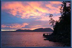 Sunrise over Saturna Island.