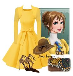 """""""Jane Porter"""" by mozzy18 ❤ liked on Polyvore featuring WearAll, Silvia Furmanovich, Le Silla and NSR Nina Runsdorf"""