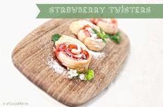 Strawberry-Twister :: Erdbeer-Blätterteig-Wirbel