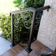 Best Custom Exterior Hand Railings Of Aluminum Designed 640 x 480