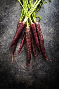 Purple Carrots. Photo by Mowie Kay.