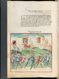 Bern, Burgerbibliothek, Mss.h.h.I.1, f. 232 – Diebold Schilling, Amtliche Berner Chronik, vol. 1
