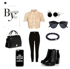 """""""Everglow #polyvore"""" by imelvawilliams on Polyvore featuring self-portrait, River Island, Miu Miu, Bling Jewelry, Casetify, Le Specs and Sonam Life"""