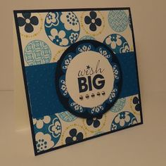 Paper craft and card idea using Stampin' Up! Circle Circus, Printed Petals and Word Play stamp sets.    Crafting the Day Away: http://supersuelovestocraft.blogspot.com/