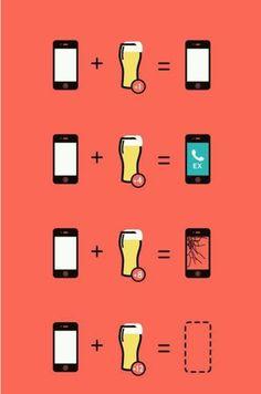 Je smartphone na het drinken van alcohol :)