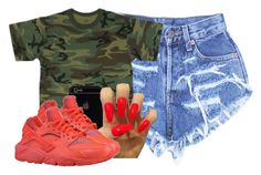 """Untitled #2443"" by alisha-caprise ❤ liked on Polyvore featuring Levi's and NIKE"