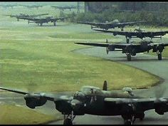 Night Bombers' (1944, 1981) - Rare colour footage of a WW2 operational RAF station, the planning, preparation, Berlin bombing raid, debrief etc. Filmed by the station commander as a training aid and after the war compiled and narrated into a documentary. [59:18]