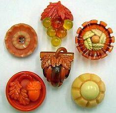 Vintage Celluloid Buttons. 1900's.