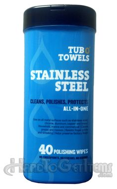 Let the metal surfaces in your home shine like they're fresh off the line with these handy wipes!