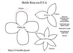 moldes de rosas de eva passo a passo 2