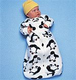 Sewing pattern for baby sleeping bag