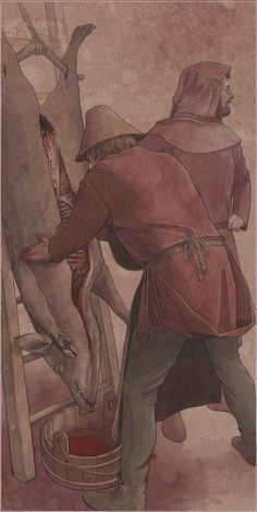 Slagter ca 1300 – Schlachter um 1300 – Butcher about 1300