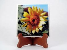 Handmade Photo Coaster Sunflower by PhotographyByRoger on Etsy