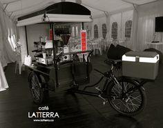 ¿Te imaginas esta bici en tu evento? ¡El mejor sabor y aroma del café en cualquier lugar! #Latterra #Cafe #Bogota #Colombia
