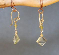 Victorian 242 Dangle earrings with Idocrase by CalicoJunoJewelry, $32.00