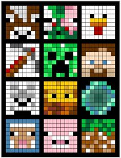 Painting Minecraft, Minecraft Quilt, Minecraft Beads, Minecraft Pattern, Minecraft Crochet, Minecraft Pixel Art, Minecraft Creations, Minecraft Designs, Minecraft Crafts