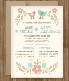 Use our wedding invitation templates to make your own DIY invitation at home. Customize the colors and wording to match your wedding. Make Your Own Wedding Invitations, Diy Wedding Invitations Templates, Wedding Stationary, Fall Bouquets, Fall Wedding Bouquets, Wedding Dresses, Wedding Sets, Our Wedding, Wedding 2015