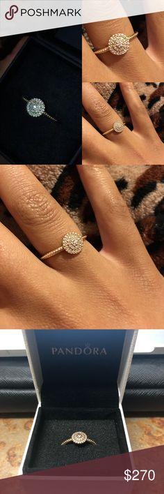 Pandora Radiant Elegance Ring 14K Gold Pandora Jewelry Rings