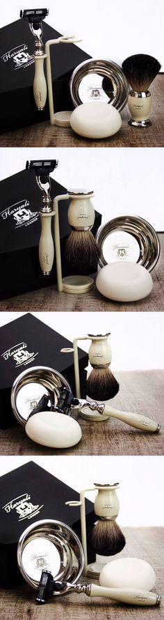 Shaving Brushes and Mugs: 5 Piece Men S Shaving And Grooming Set | Gillette Mach3 And Pure Black Badger Brush -> BUY IT NOW ONLY: $54.99 on eBay!
