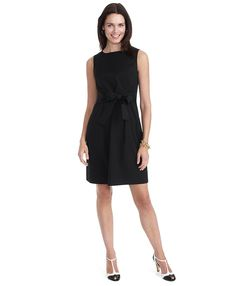 Cotton Dress with Tie Detail   Brooks Brothers