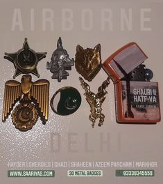 Airborne Delhi Pack Six 3d Metal Badges + Delhi 907 | Rs 9500 | Originally 11700 Whatsapp 03338345558 | Pack Includes Following 3d Metal Lapel pins , Badges by Saariya's Hayder Courage has no Limits Lapel pin 1950 Sherdils JF Thunders OPSR Lapel pin 1900 Ghazi Delhi Sultanate Wolf Badge 1700 Shaheen Saladin Badge 1700 Azeem Parcham Lapel pin 1400 Markhor Matt Golden Lapel pin 1900 Hell will be unleashed on Hindutva Goons once Pakistan Armed Forces Announce Recruitment for the Blessed War of Delhi Sultanate, Pakistan Armed Forces, Cursed Child Book, Pin Badges, Lapel Pins, Dog Tags, The Originals, Metal, Gifts