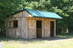 Small Horse Barn Designs. I think I would want something a little different with the front overhang