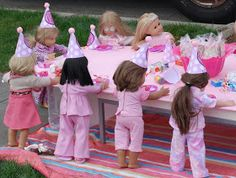 Cake Face Toppers: 3rd Annual American girl doll party