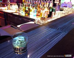 Very cool.  Translucent concrete.  lasagna-like layers of concrete and fiber optics (My future bar in my house)