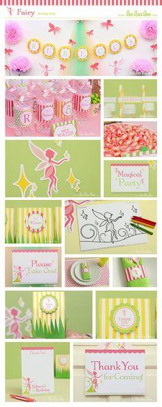Fairy Birthday Party Invitation Personalized by LeeLaaLoo on Etsy, $12.00